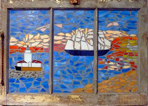 Chris Smith makes mosaics out of a variety of mediums.