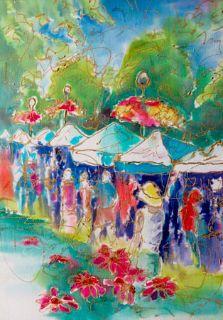 Art in the Park (Dyes on Silk)