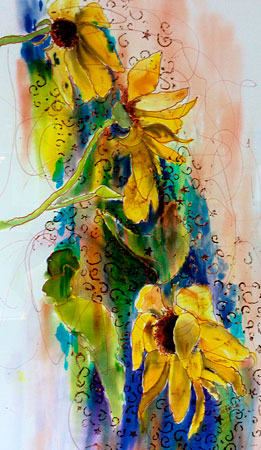 Balsam Root Silk Painting
